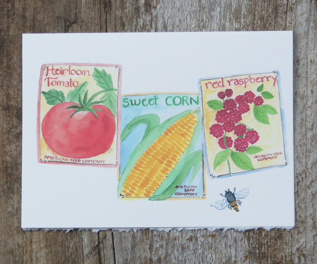 Veggie Seeds Card