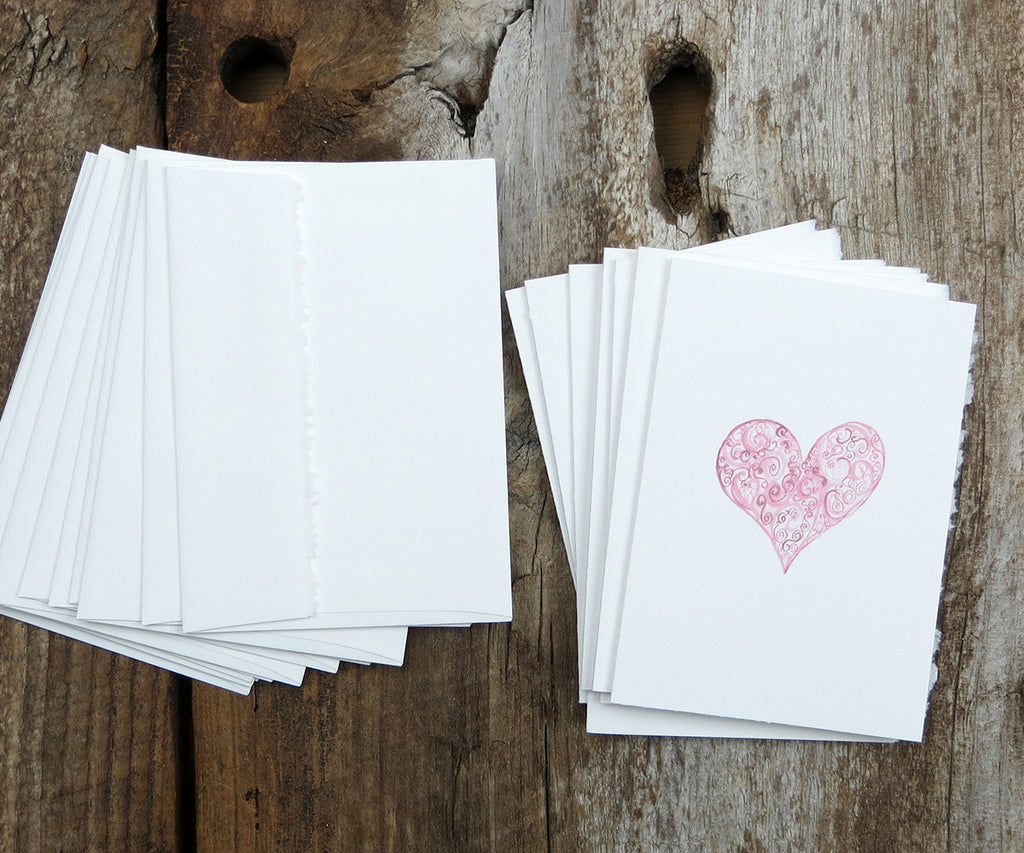 Vintage Heart Valentine Notes