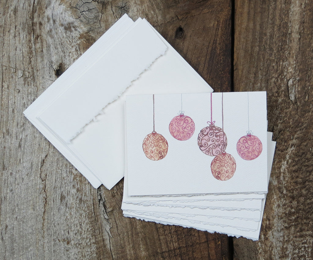 Vintage Ornaments Holiday Notes