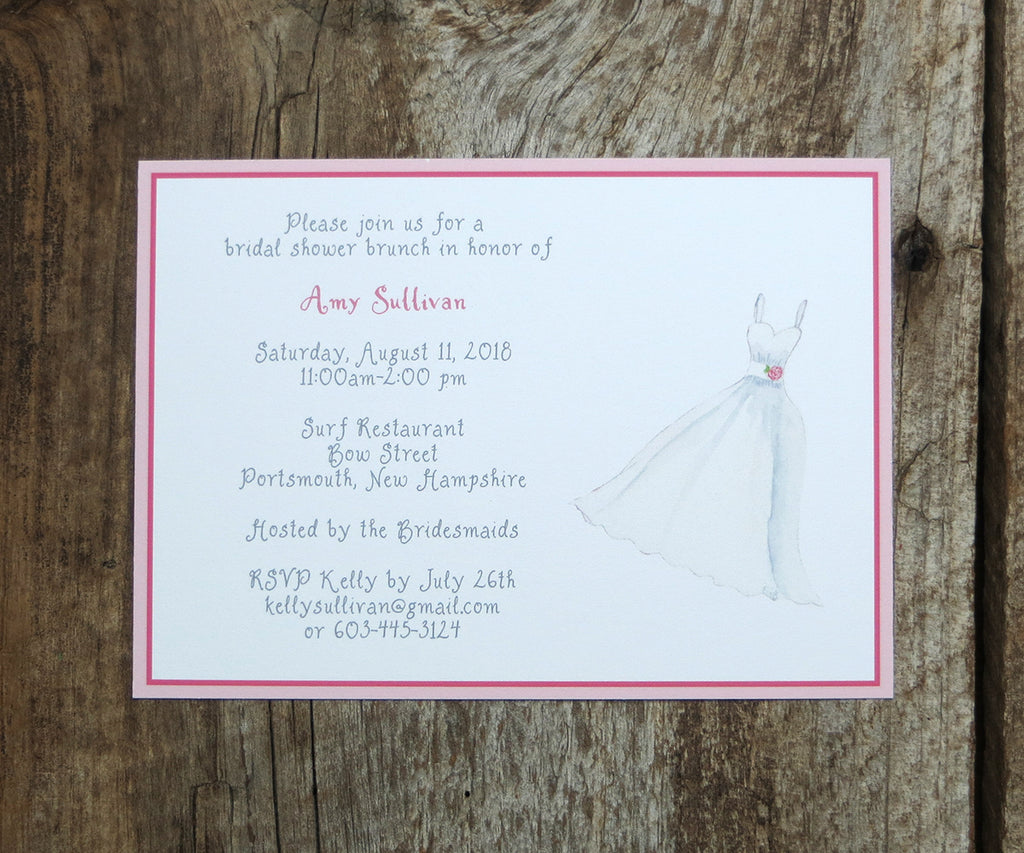 Wedding Dress Shower Invitation
