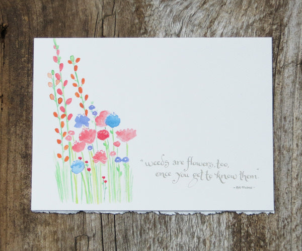 Weeds Quote Card