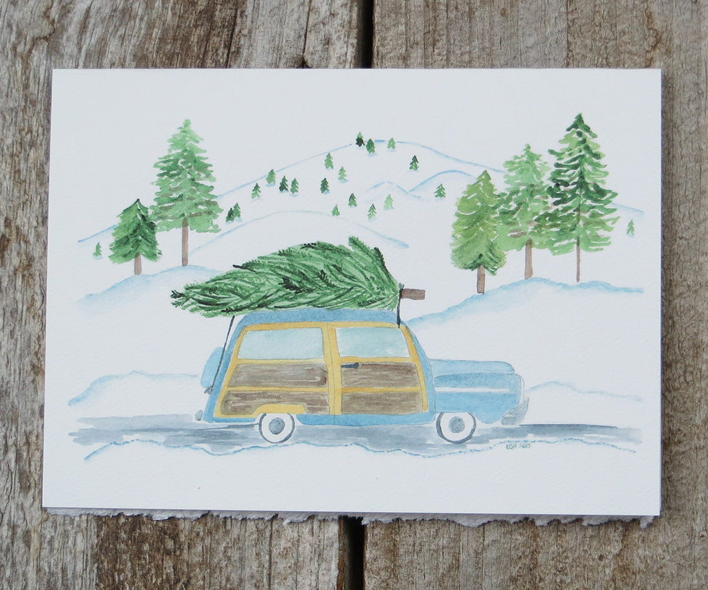 Woody Wagon Holiday Card
