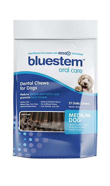 BLUESTEM™ DENTAL CHEWS - MEDIUM
