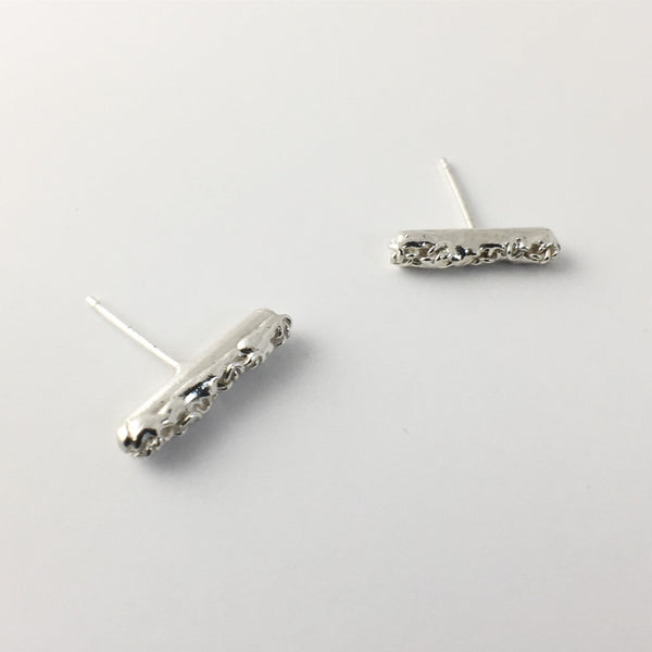 Lava Bar Stud Earrings