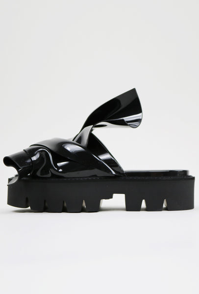 Nº21 Loves Kartell Knot Rubber Sandals Black