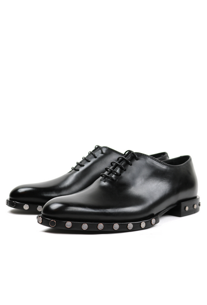 Studded Sole Molded Lace-up Shoes