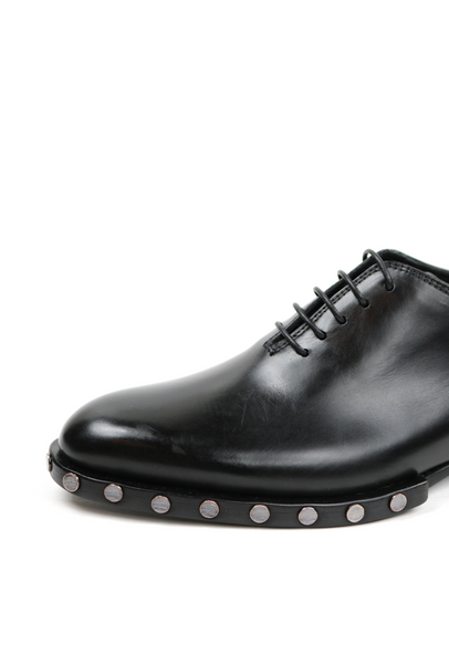 Studded Sole Moulded Lace-up Shoes