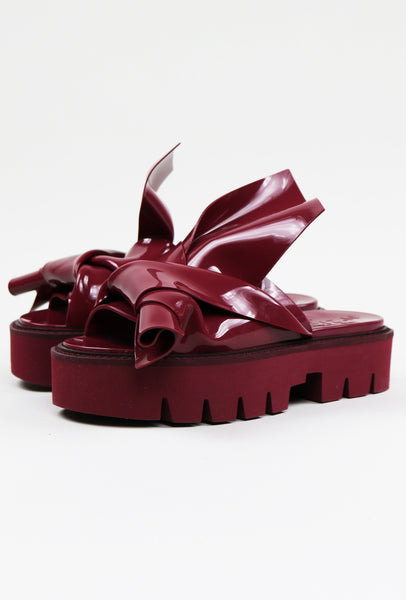 Nº21 Loves Kartell Knot Rubber Sandals Burgundy