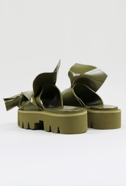 Nº21 Loves Kartell Knot Rubber Sandals Khaki