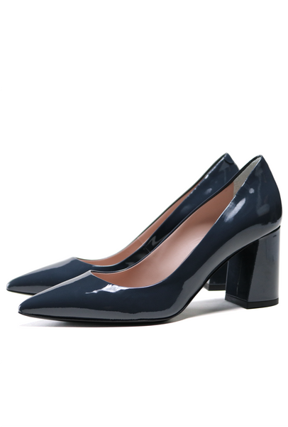Anthracite Grey Patent Leather Pump