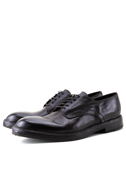 Lace-Up Brown Leather Derby Shoes