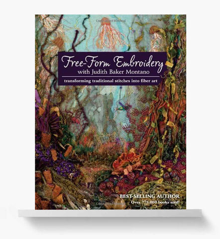 Free form embroidery book