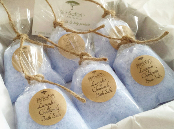 Aromatherapy Blue Bath Salts Natural Custom Favors