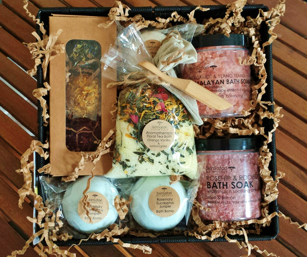 ... Natural Spa Customized Gift Baskets with selection of bath products ... & Gift Baskets u2013 Skin Safari Botanicals™