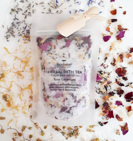 Rose and Geranium Botanical Bath Salts
