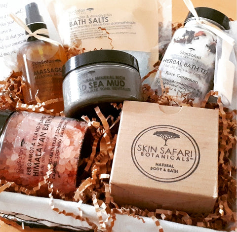 Natural Body and Bath Gift Baskets