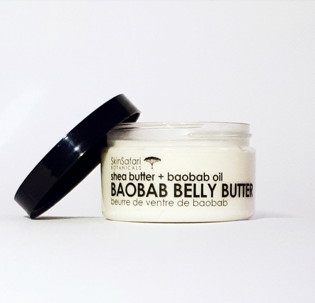 Baobab Belly Butter, Nutrient-rich with Vit E to protect and condition skin