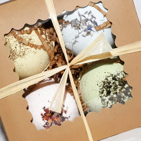 Box-of-Four Aromatherapy Herbal Bath Bombs