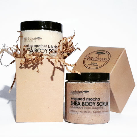 Body Sugar Scrub, All Natural with African Shea Butter & Plant Ingredients