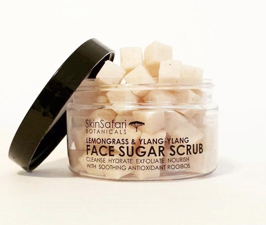 All Natural Face Sugar Scrub Mini Cubes, Lemongrass & Ylang Ylang
