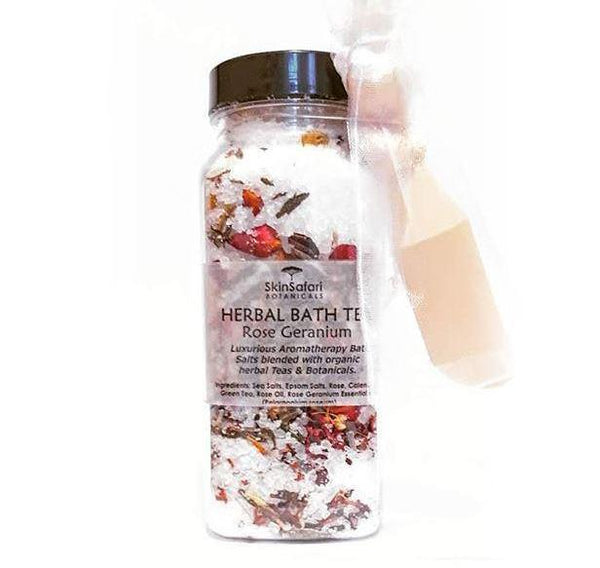 Aromatherapy Herbal Bath Tea Salts, Rose Geranium
