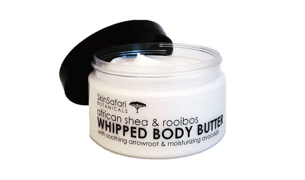 Shea Body Butter, handcrafted with soothing Rooibos and Arrowroot by Skin Safari Botanicals