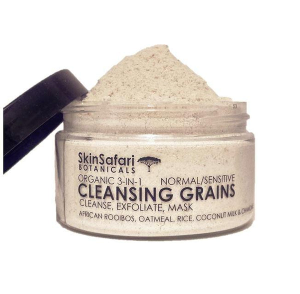 Organic Face Cleansing Grains, 100% natural