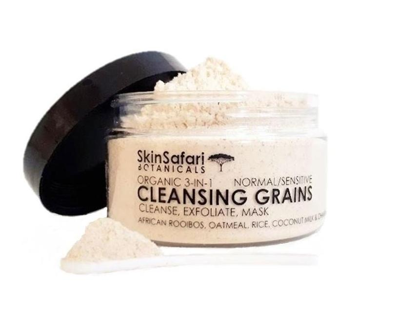 Organic Face Cleansing Grains with Scoop for smooth clear skin
