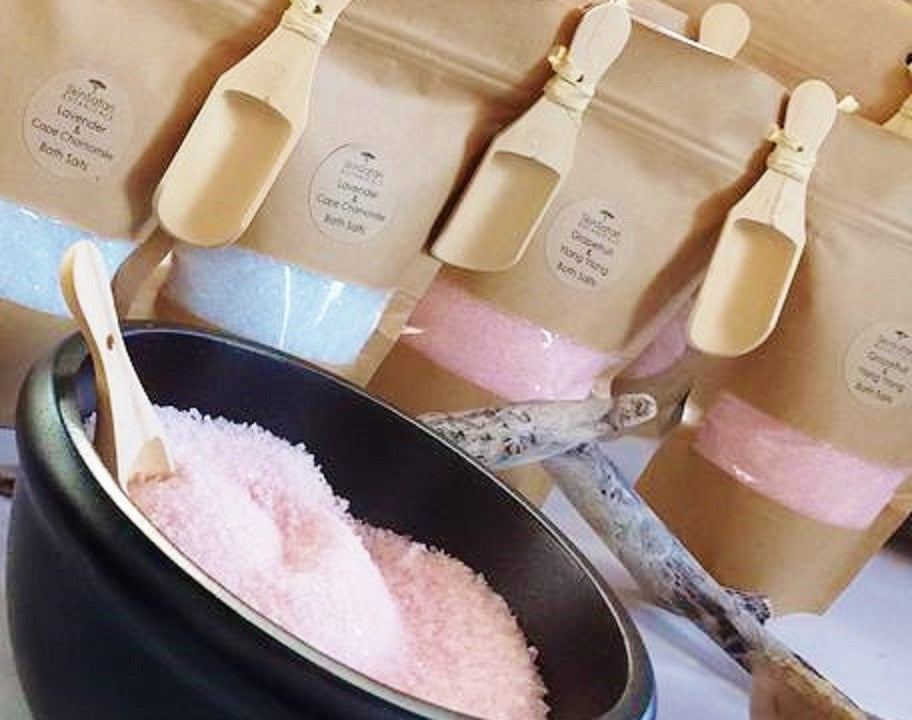 Aromatherapy Bath Salts with Free wood scoop