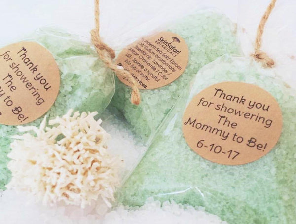 Aromatherapy Mint Green Sea Foam Bath Salts Custom Favors