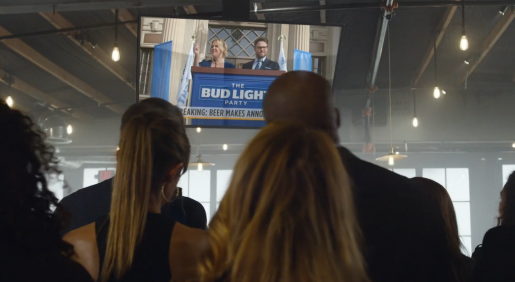 Watch Seth Rogen and Amy Schumer in Bud Light's Super Bowl Ad