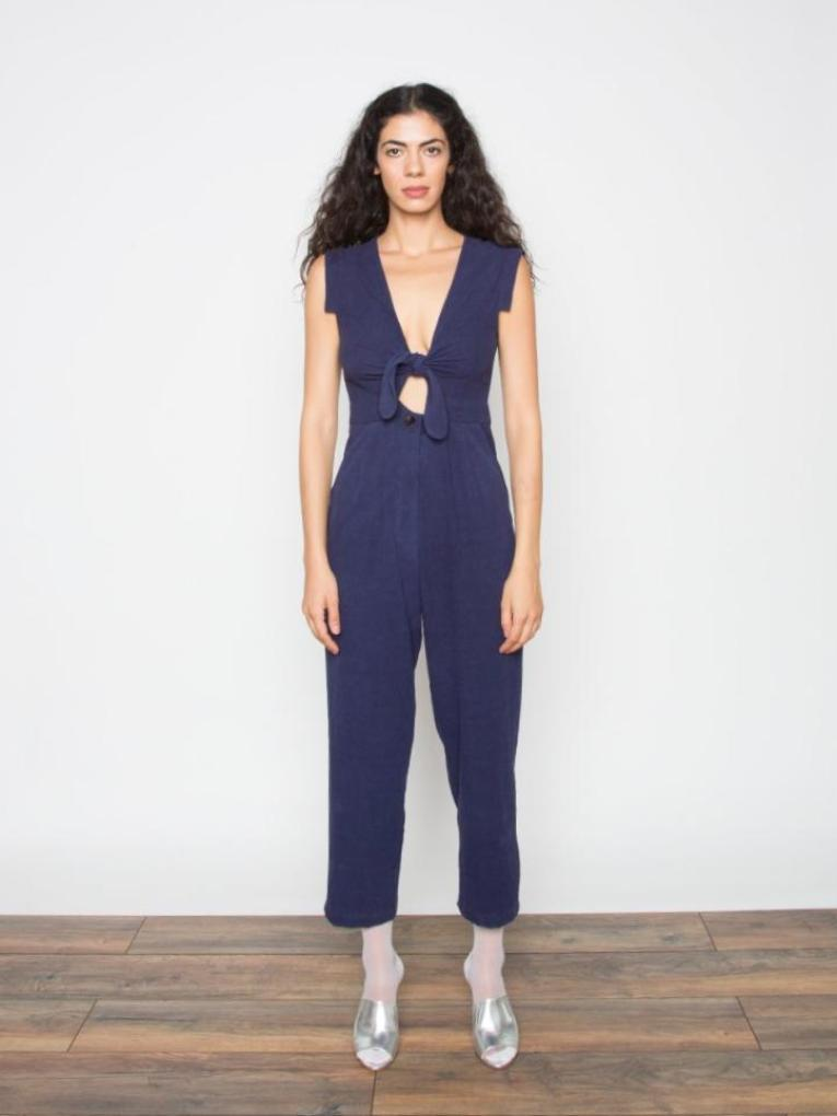The Goods Silk Knot Jumpsuit
