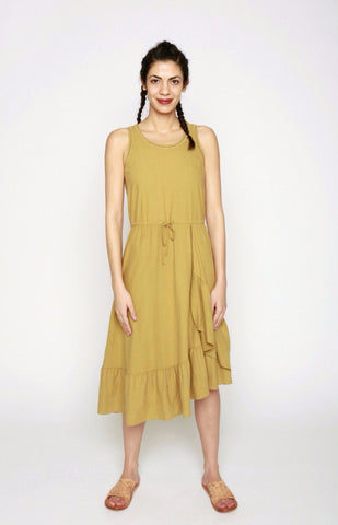 The Goods Silk Ruffle Tank Dress - 34°N 118°W