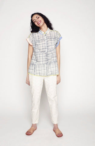 34°N 118°W Safety Pin Popover Shirt