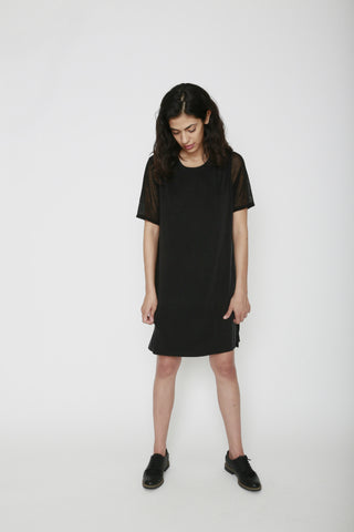 Mateo Sheer Back Tshirt Dress - 34°N 118°W
