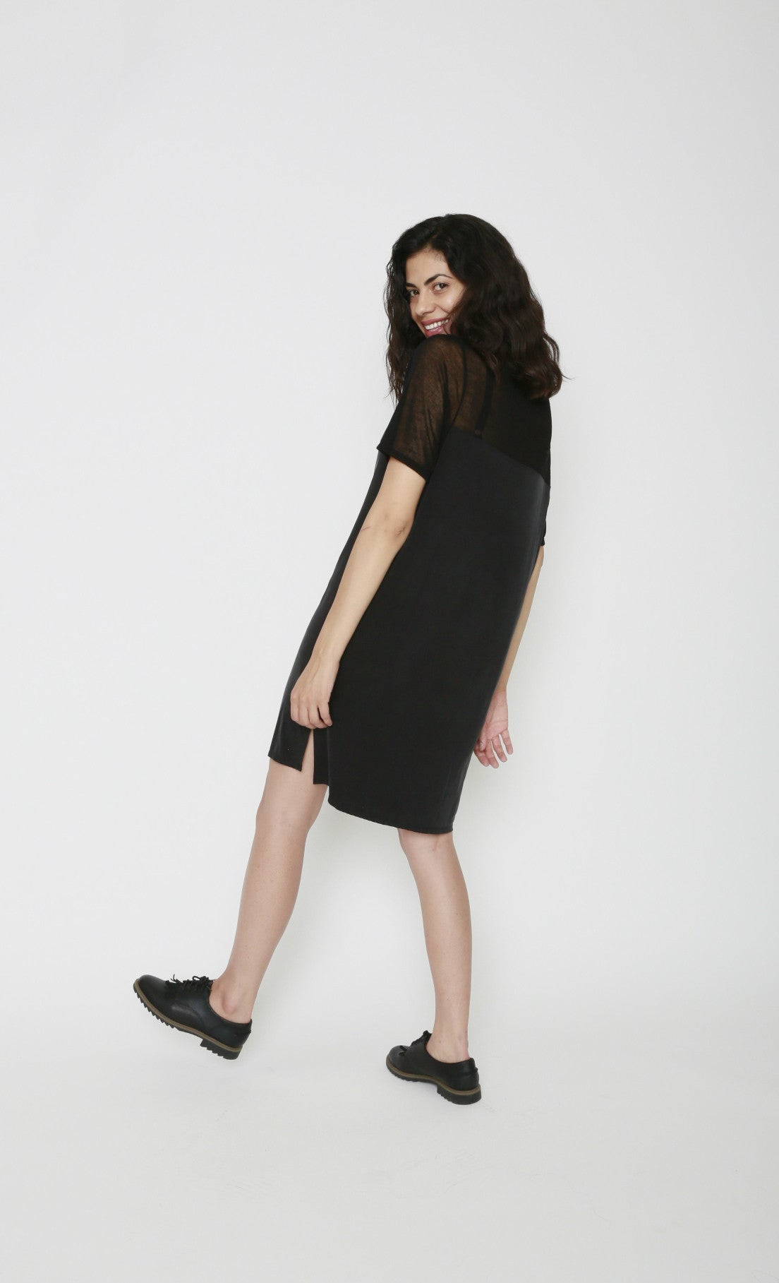 34°N 118°W Mateo Sheer Back Tshirt Dress