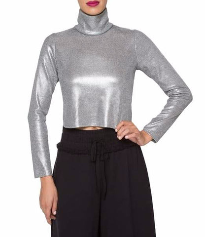 Barbarella Cropped Turtleneck