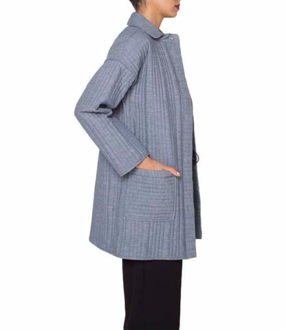Rosa Indigo Quilted Field Coat