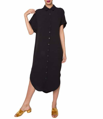 Gloria Crepe Shirt Dress