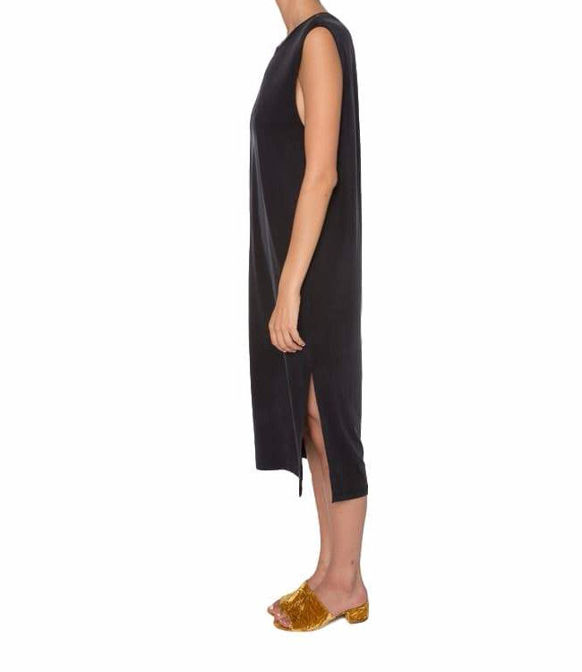 Mateo Cupro Jersey Slit Back Dress
