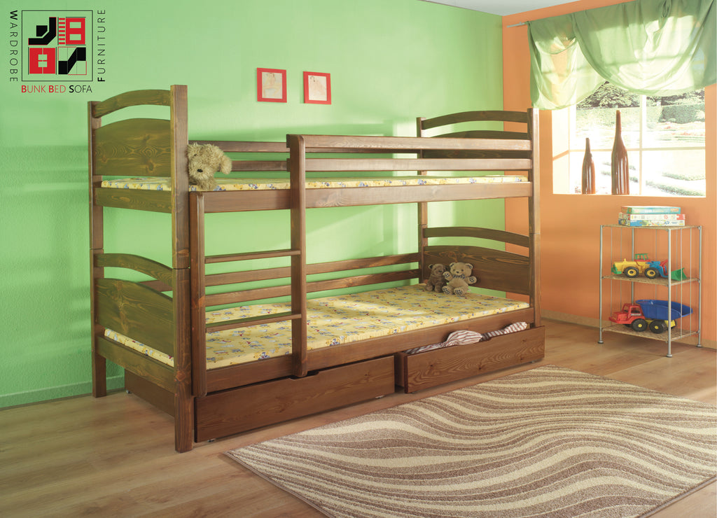 DAVID - Solid and functional wooden bunk bed