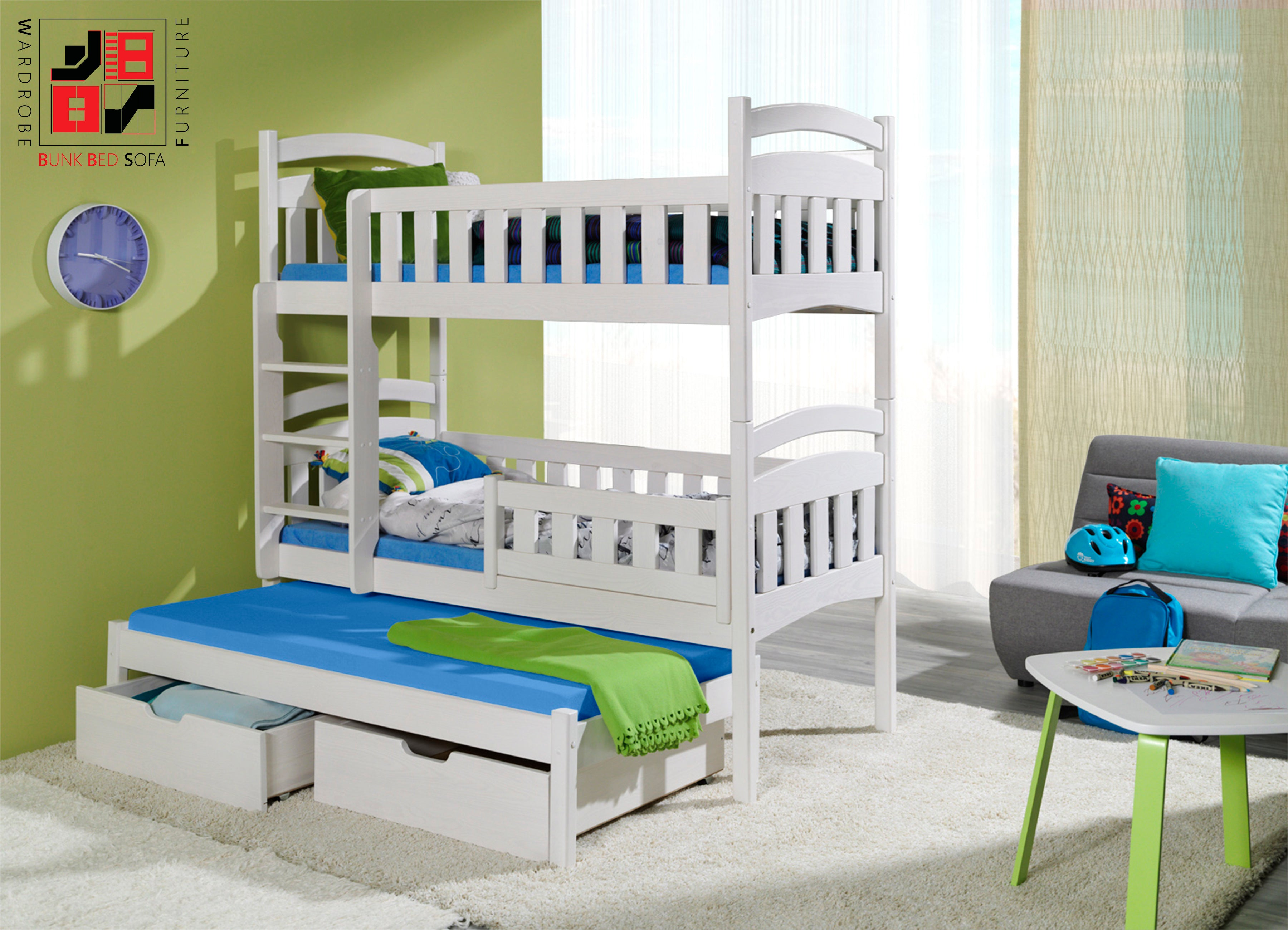 DOMINIC III Perfect triple bunk bed for your loved ones
