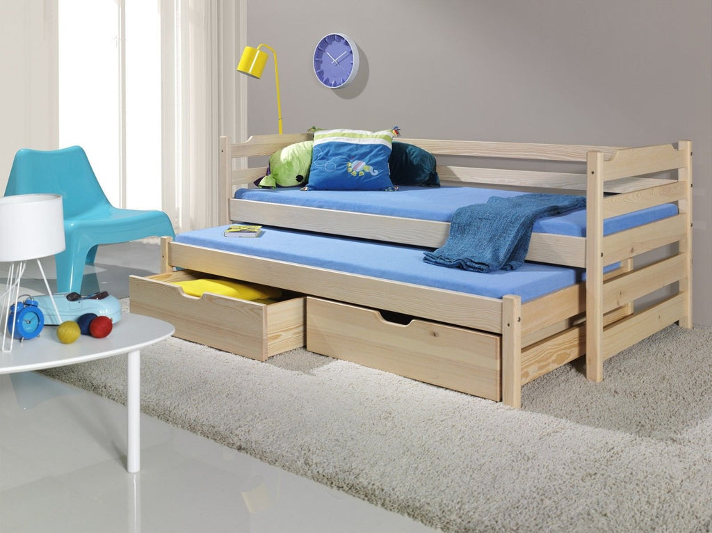 MARTIN - Children Single Bed For Children With Trundle Bed and Big Drawers