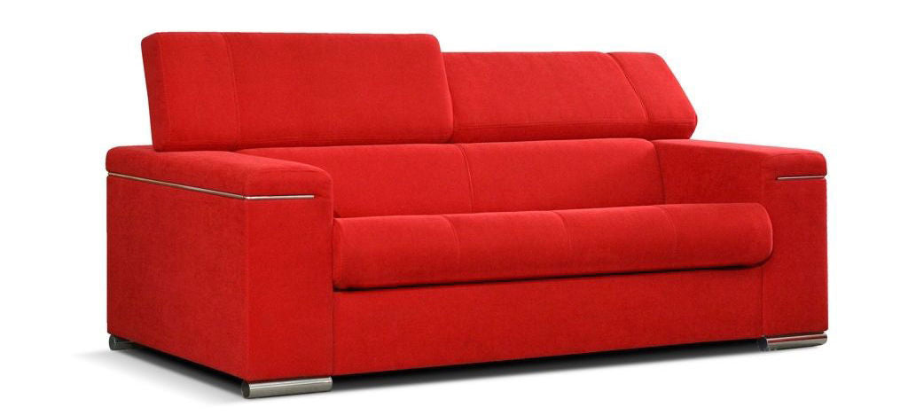 Silver 3 Red Sofa With Sleeping Function