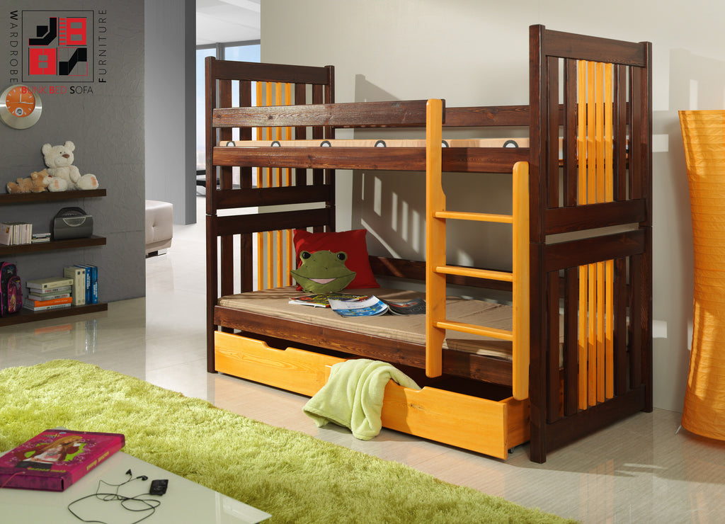 CORNEL - Safety and well built bunk bed with drawers