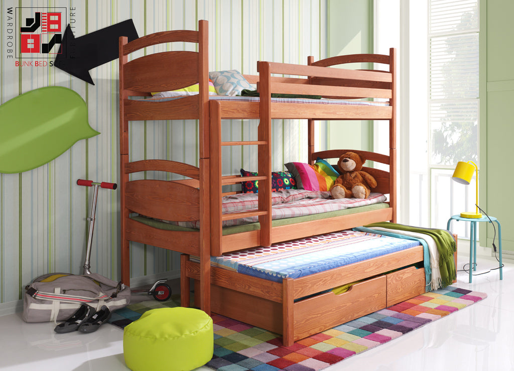 CESARO III - Solid and comfortable triple bunk bed
