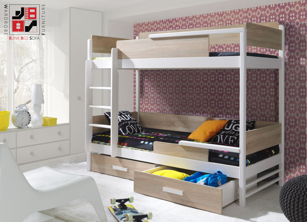 QUATRO II - Solid bunk bed with great functional
