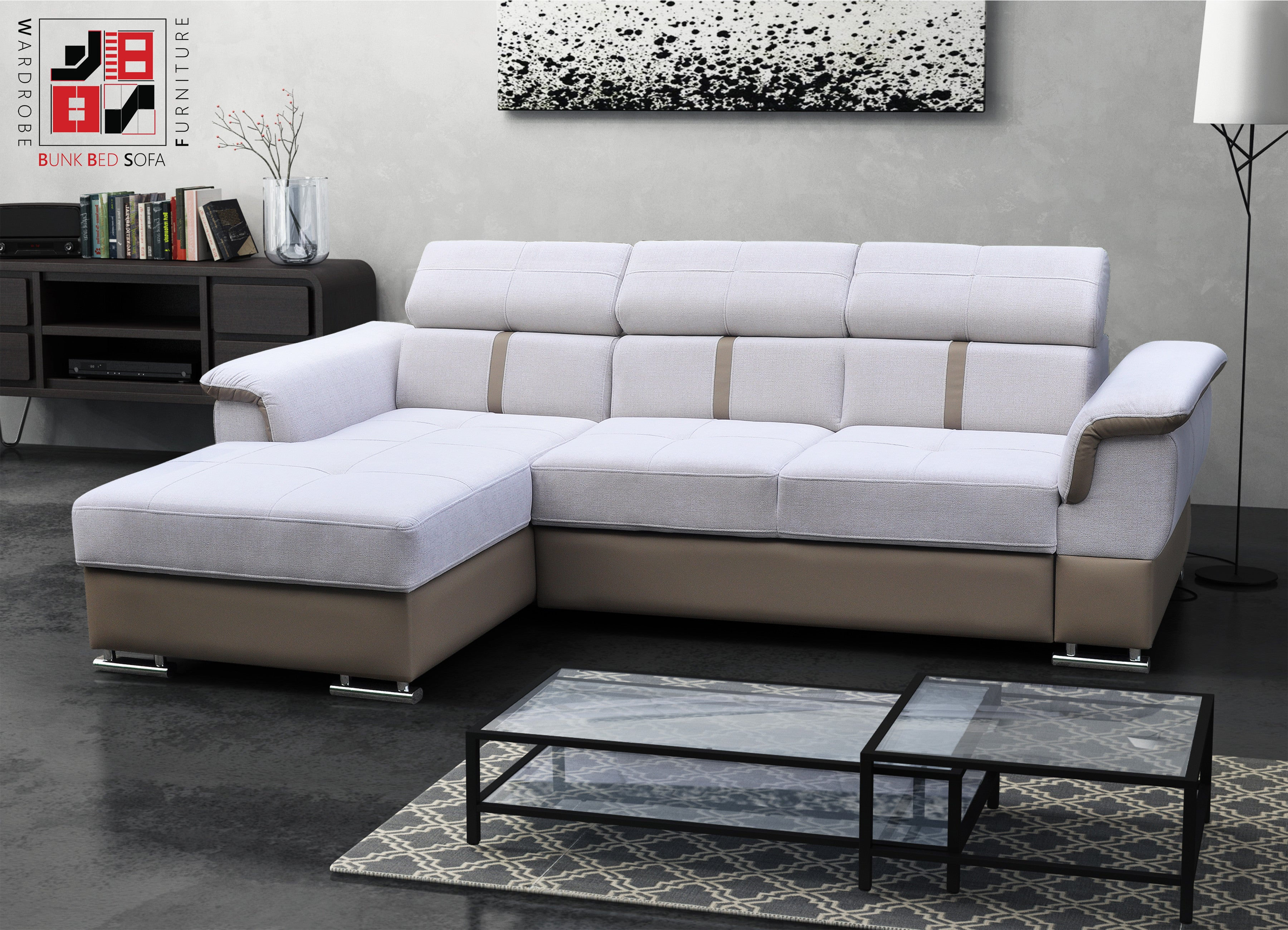 HAVANA Extremely fortable corner sofa bed with spreading
