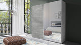 MONA 180 - sliding door wardrobe with mirror, rail and shelves >180cm< FAST DELIVERY