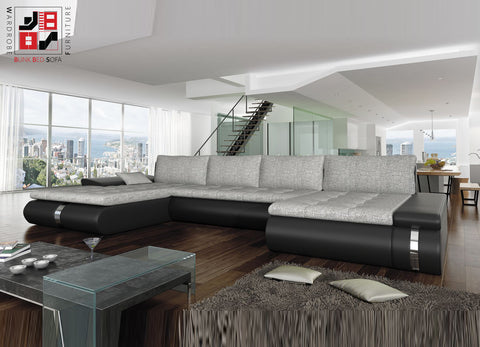 FRESCO XL - Luxury U-shape sofa bed for extra ordinary folkes >385x216cm<